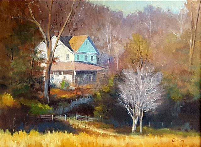 The Patton House, Oil on canvas, 12 X 16 in.